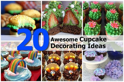 Decorating Ideas For Cupcakes 20 Awesome Cupcake Decorating Ideas