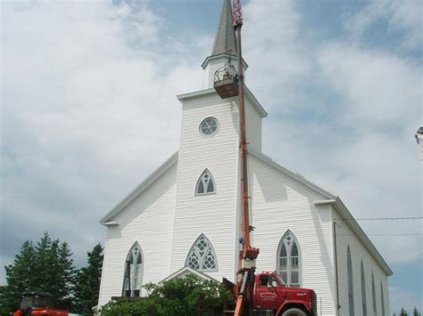 united church steeple repairs woodchuckcanuck
