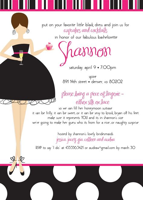 bachelorette party invitation templates free cimvitation