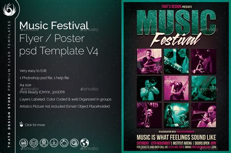 music festival flyer template v4 by lou606 graphicriver
