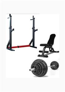 home package squat stand adjustable bench oly bar