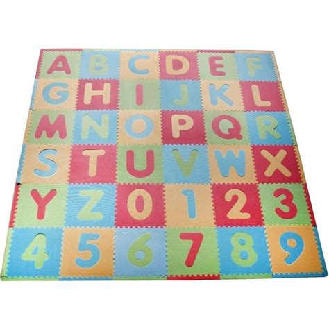 Alphabet And Numbers Mat by Foam Play Mat For Soft And Safe Floor Play