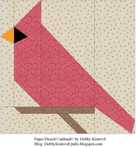 printable paper quilt patterns 20 best images about cardinals in quilting on pinterest