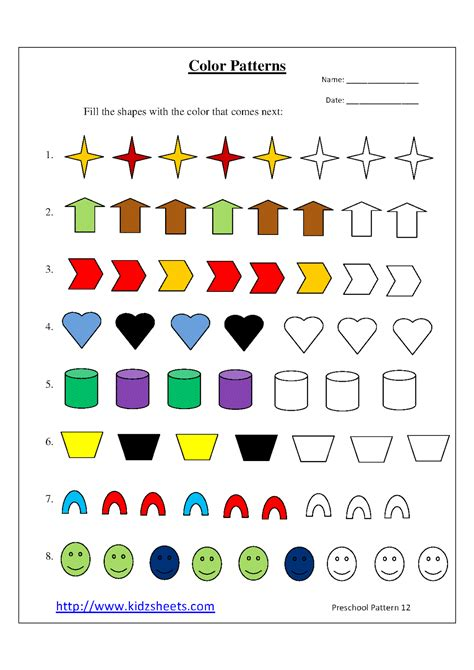 pattern kindergarten video printable pattern worksheets worksheets releaseboard