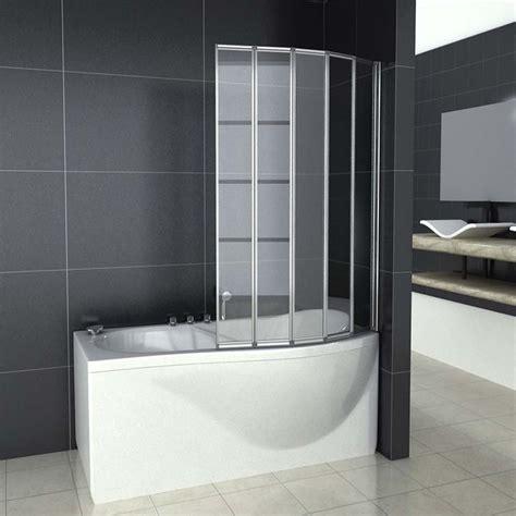 Curved Bathtub Doors by 1 2 3 4 5 Folds Curved Folding Bath Shower Screen Glass