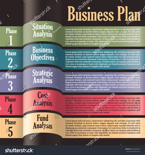 layout business plan business plan modern design template presentation stock