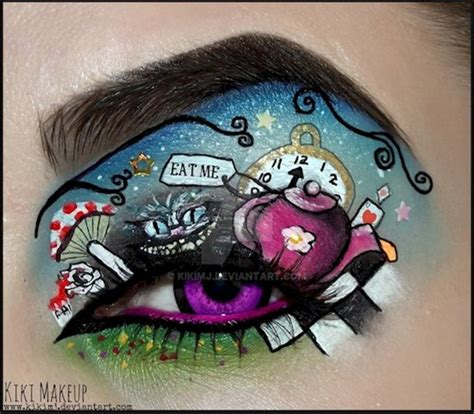 creepy eye makeup designs  perfect  halloween
