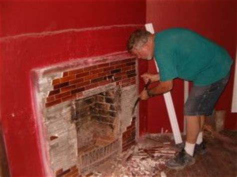 Removing Tile From Fireplace by Homepage