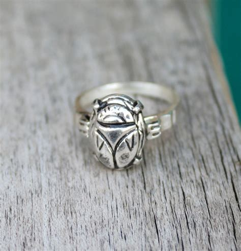 scarab jewelry deco scarab beetle ring sterling