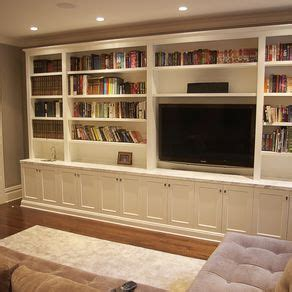 custom wall units for family room living room media unit by merson