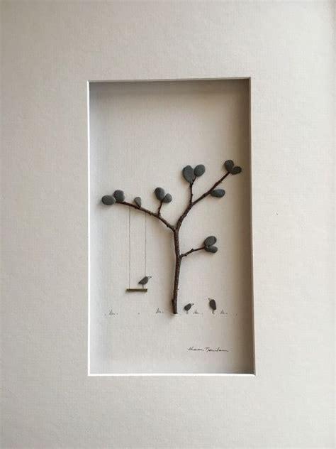 swing by swing pebble swing with birds pebble art by sharon nowlan art pebble