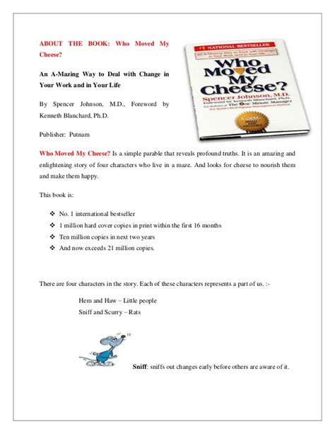 book report on who moved my cheese who moved my cheese book report free frudgereport594 web