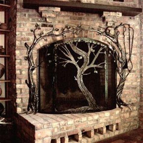 handmade stained glass kiva fireplace screen by krysia