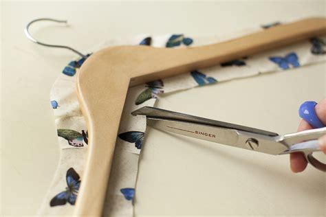 decoupage hanger tutorial fabric decoupaged coat hangers maker crate