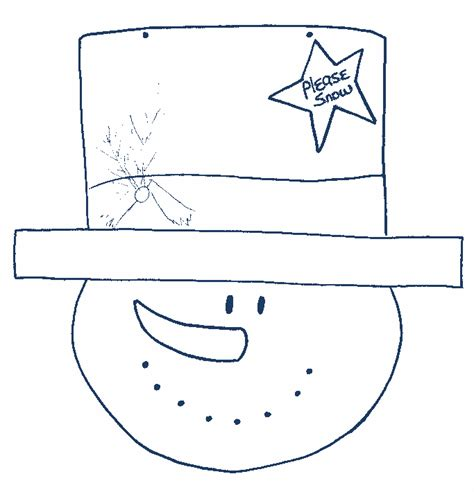 snowman cut out template search results for snowman top hat template calendar 2015