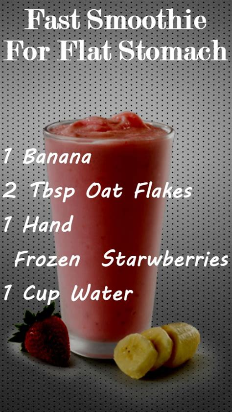 2 Week Flat Stomach Detox by Fast Smoothie For Flat Stomach Healthy