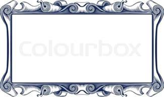 Victorian Home Decor Vintage Emblem Border Stock Vector Colourbox
