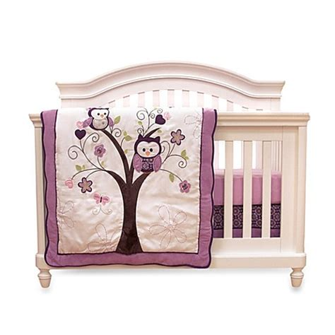 Owl Baby Crib Bedding Buy Baby S By Nemcor 4 Plum Owl Meadow Crib Bedding Set From Bed Bath Beyond