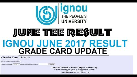 Ignou Mba Result Grade Card by Update Ignou Grade Card Assignment Marks Update