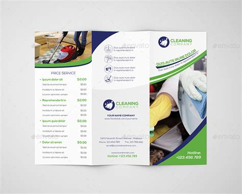 cleaning service brochure templates cleaning company trifold brochure template by wutip2