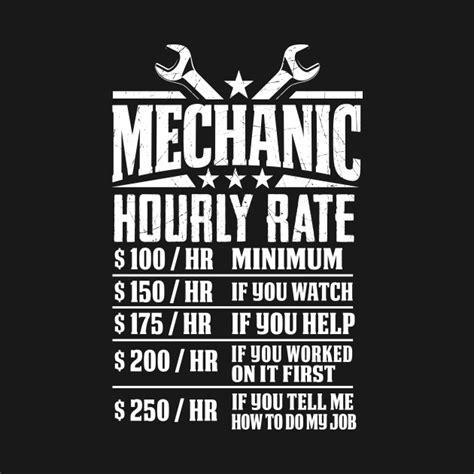 T Shirt Mechanic Logo mechanic hourly rate graphic design mechanic t