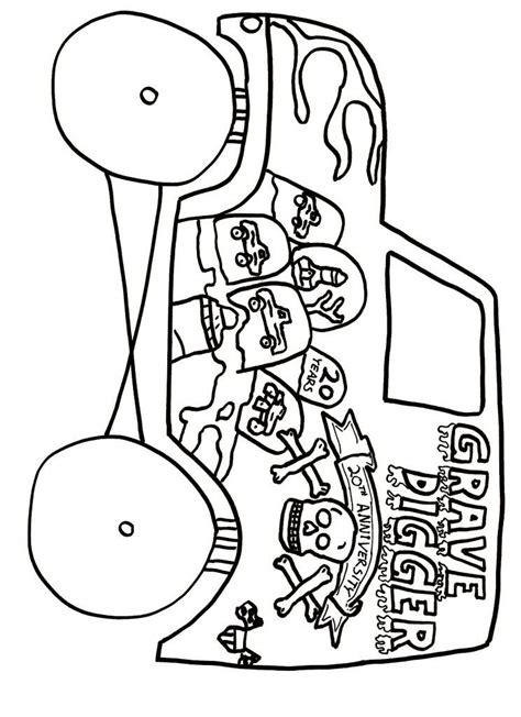 grave digger monster truck coloring pages monster jam coloring page coloring home