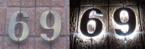 solar light house numbers how to illuminate existing house numbers with led s