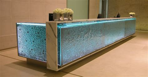 Glass Reception Desks Leave It At The Reception Desk Glass Crafted Look At This Idea Unsual And Neat Office
