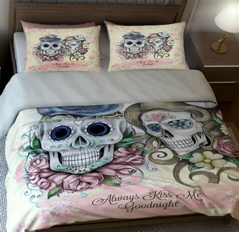 skull king size bedding sugar skull bedding sugar skulls duvet comforter cover set