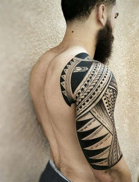 tribal arm piece tattoos 32 amazing tribal sleeve tattoos