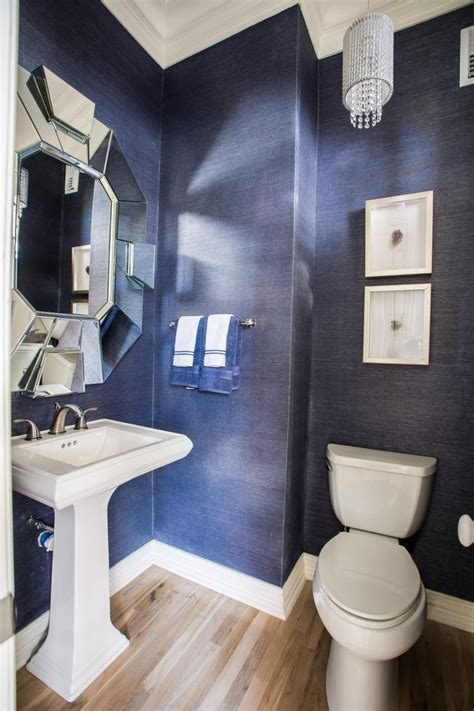 blue powder room unique powder rooms to inspire your next remodeling