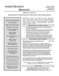 Budget Accountant Sle Resume by Budget Analyst Resume Exle Resume Exles Budget And Resume