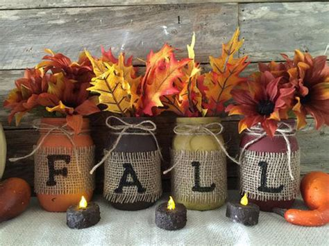 diy fall decor from jars