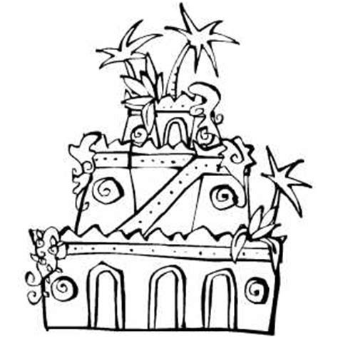 coloring pages hanging gardens of babylon hanging gardens coloring sheet
