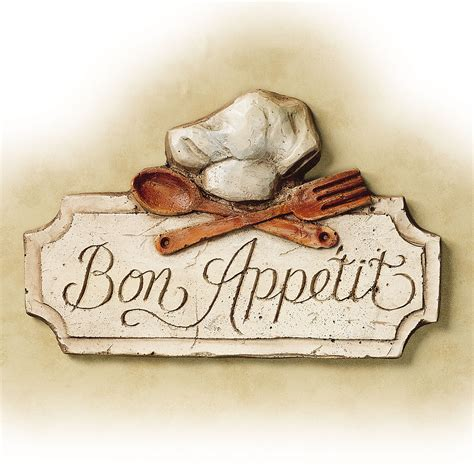 bon appetit kitchen wall plaque trending image