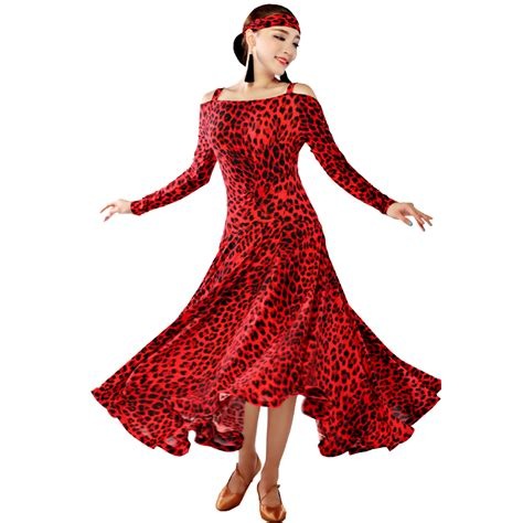 swing dance wear aliexpress com buy tiger leopard veins dance dress long