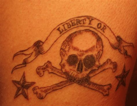liberty or death tattoo liberty or design tattooshunt