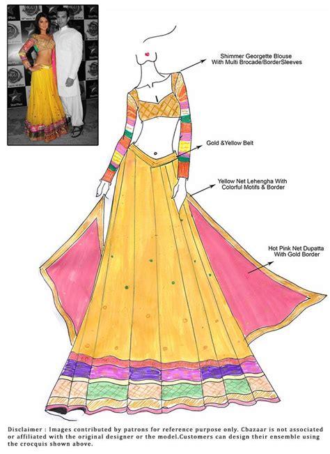 fashion illustration lehenga 215 best dress design sketches images on