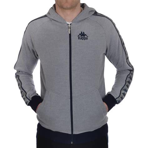 Sweater Hoodie Top kappa warsus mens slim fit retro zip hooded hoodie sweater jumper top