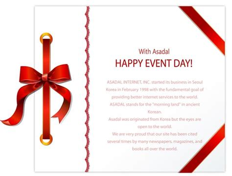 layout of invitation invitation cards design with ribbons