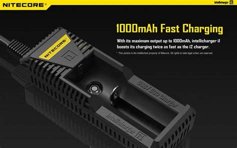 Termurah Nitecore Universal Battery Charger 1 Slot For Li Ion F1 nitecore intellicharger universal battery charger 1 slot for li ion imr i1 black