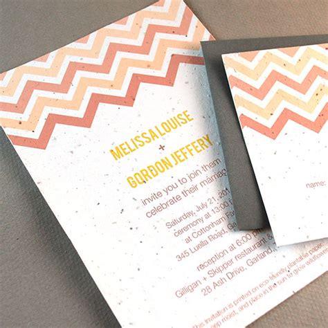 seed paper wedding invitation kits plantable chevron wedding invitation plantable wedding
