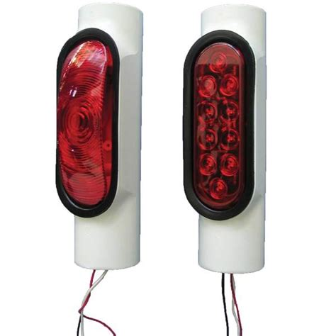 boat trailer lights west marine pipe light trailer post light kit for trailers over 80 quot w