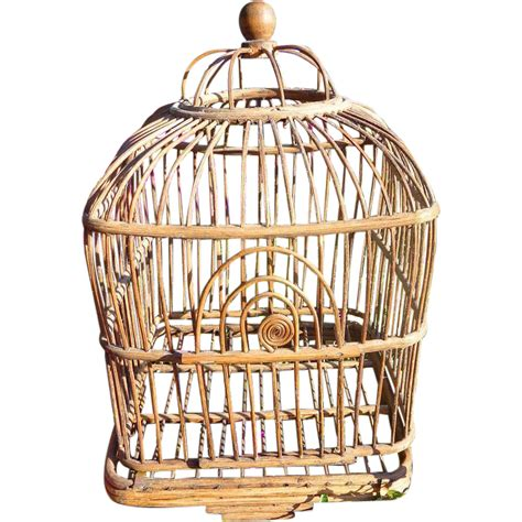 victorian wicker bird cage from deadpeoplesthings on ruby