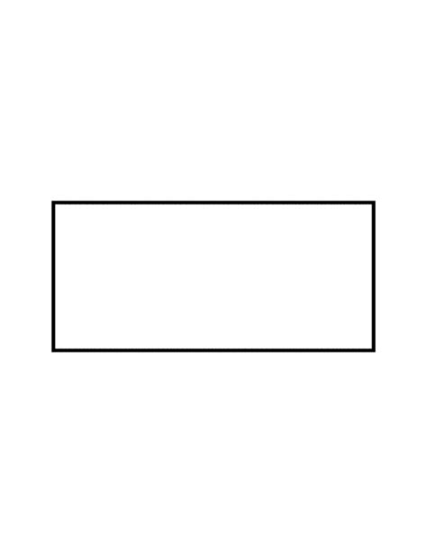 Rectangle Outline Clip by Flashcard Of A Rectangle Clipart Etc