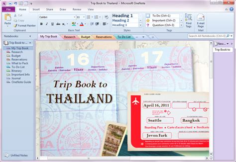 a thailand diary books how to use onenote to plan your next trip 5 minutes for