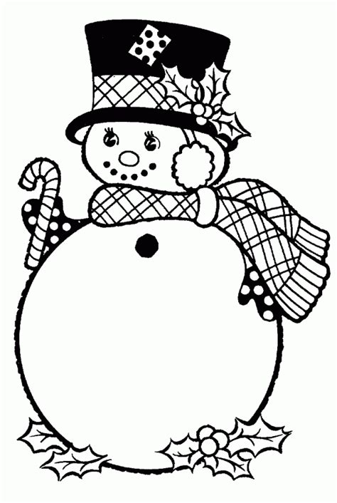 Christmas Coloring And Activity Pages Snowman With Hat Free Printable Snowman Coloring Pages