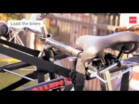 Allen Bike Rack 103db by Installing The Allen 103db Deluxe 3 Bike Trunk Rack How