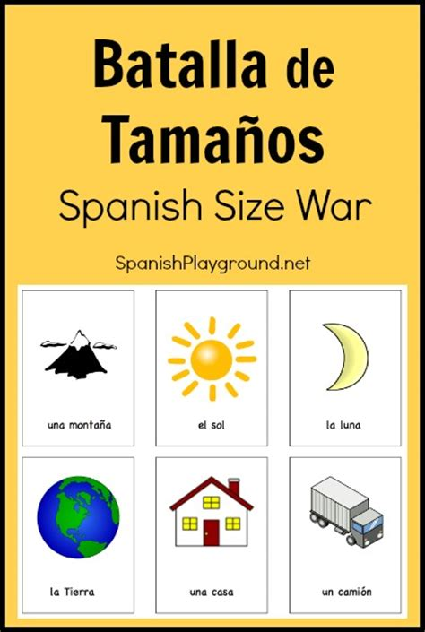 printable vocabulary games printable spanish game for kids batalla de tama 241 os
