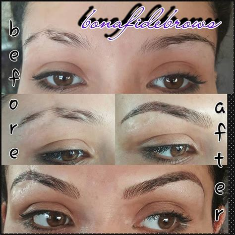 Microblading Eyebrows On A Scarred Skin Before And After